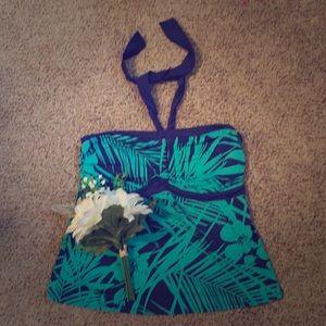 Jaclyn Smith swim tank top
